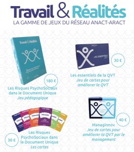 Travail & Réalités : la gamme de jeux du réseau Anact-Aract