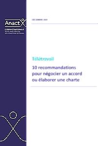Télétravail : 10 recommandations pour négocier un accord ou élaborer une charte