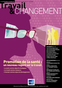 N° 339 Promotion de la santé : un nouveau regard sur le travail