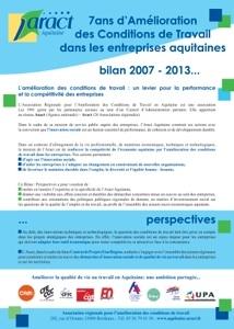 Amélioration des conditions de travail dans les entreprises aquitaines : 7 années d'action