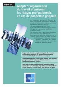 Pandémie grippale : adapter l'organisation du travail et prévenir les risques professionnels