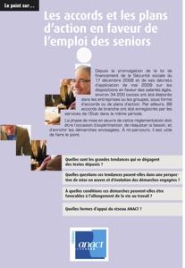 Accords et plans d'action en faveur de l'emploi des seniors